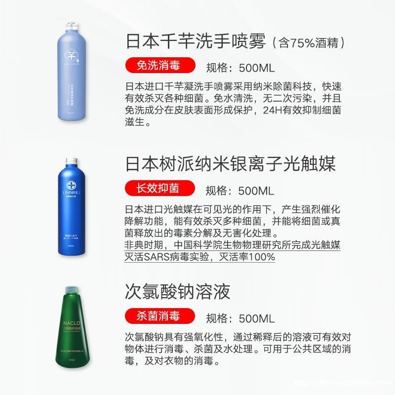 企业复工消毒套装 满足复工需求 进口产品 资质齐全