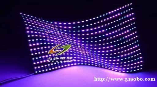 山水名科 LED(第七代)透明基材贴膜软屏灯珠及 IC 主要
