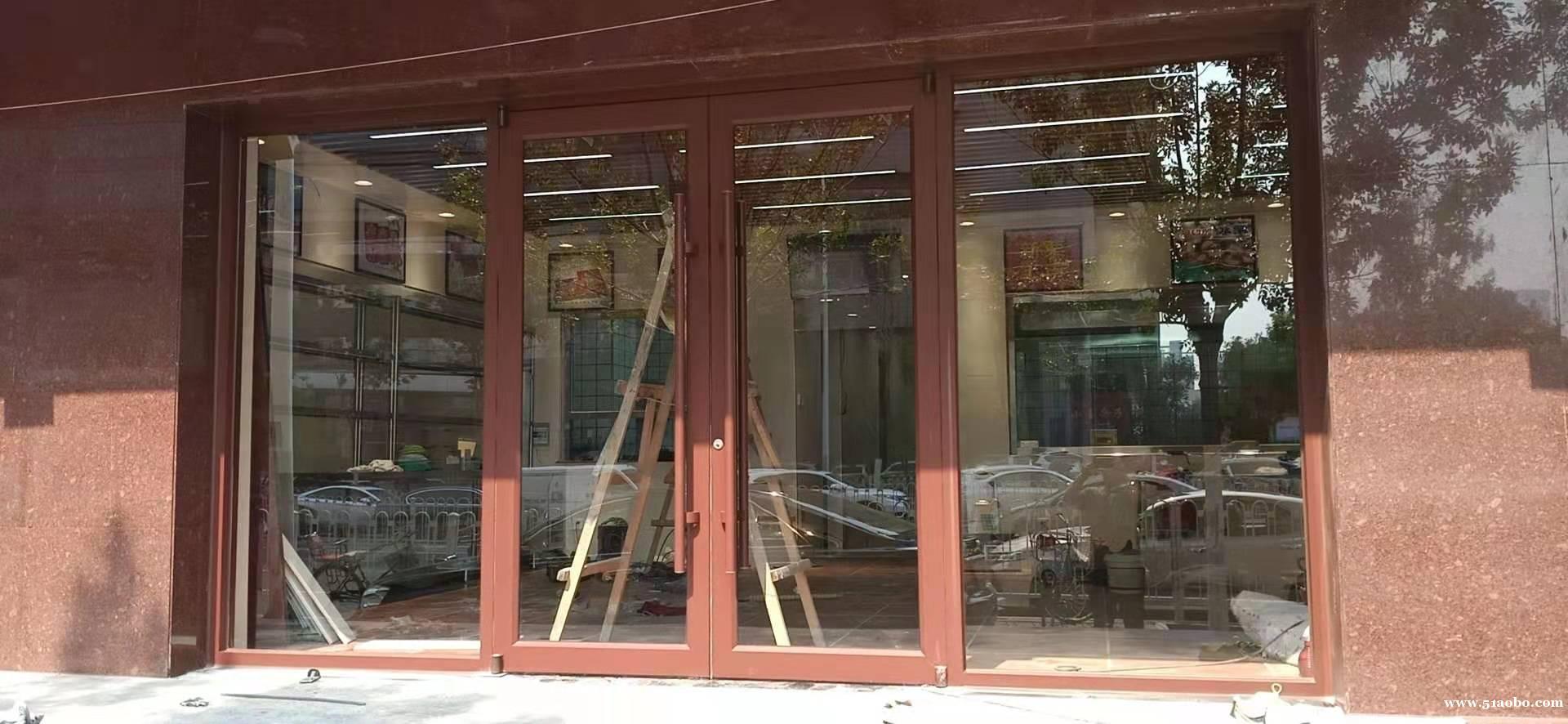 西青区安装钢化玻璃门肯德基玻璃门更换碎玻璃玻璃隔断