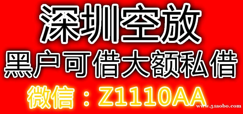 深圳空放应急贷款生意大额短期周转民间贷款-借款